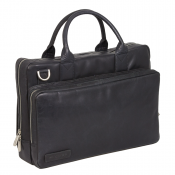 "Plevier Business/ Laptoptas Greased 2-Vaks 14"" Black 271"