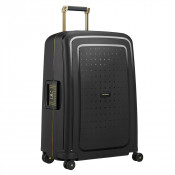 Samsonite S'Cure Deluxe Spinner 69 Black/Gold Deluscious