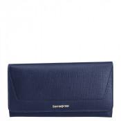 Samsonite Lady Saffiano II SLG Lady Wallet 14CC Zip Coin Midnight Blue