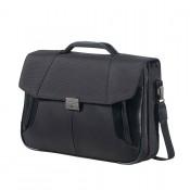 "Samsonite XBR Briefcase 2 Gussets 15.6"" Black"