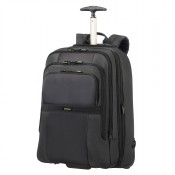 "Samsonite Infinipak Laptop Backpack Wheels 17.3"" Expandable Black/Black"