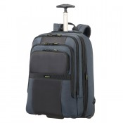 "Samsonite Infinipak Laptop Backpack Wheels 17.3"" Expandable Blue/Black"