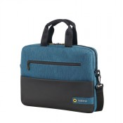 "American Tourister City Drift Laptop Bag 15.6"" Black/Blue"