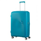 American Tourister Soundbox Spinner 77 Exp. Summer Blue