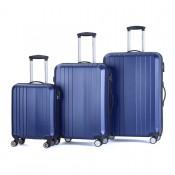 Decent Tobi 3-Delige Kofferset Donker Blauw