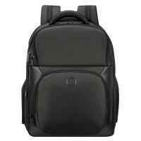 Delsey Quarterback Premium 2-CPT Backpack S 17'' Expandable Black