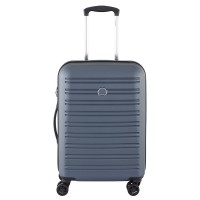 Delsey Segur Slim Cabin Trolley Case 4 Wheel 55 Blue