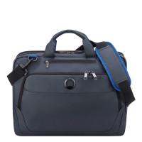 """Delsey Parvis Plus Laptop Bag 2-CPT 15.6"""" Grey"""