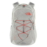 The North Face Jester Women Rugzak Tin Grey Dark Heather/Spiced Coral