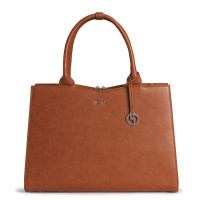 "Socha Businessbag Straight Line 14-15.6"" Cognac"