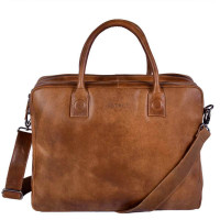 DSTRCT Fletcher Street Business Laptoptas 15.6'' Cognac