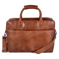 DSTRCT Fletcher Street Business Laptoptas 17'' Cognac