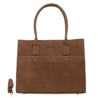 DSTRCT Fletcher Street Womens Business Laptoptas 15'' Cognac 016620