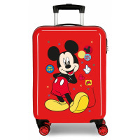 Disney Trolley 55 Cm 4 Wheels Mickey Mouse Enjoy The Day Twister Red
