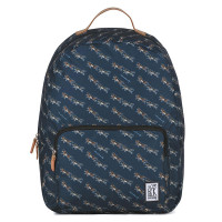 The Pack Society The Classics Rugzak Dark Blue Wolf Allover