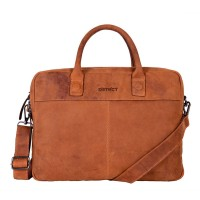 DSTRCT Wall Street Business Laptoptas 15.6'' Cognac