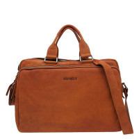 DSTRCT Wall Street Business Laptoptas 17'' Cognac 76720