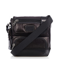 Tumi Alpha Bravo Barstow Leather Crossbody Black
