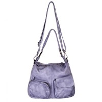 DSTRCT Stonehill Road Hobo Bag Two Pocket Light Grey