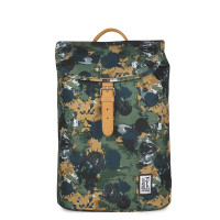 The Pack Society The Small Backpack Green Camo Allover
