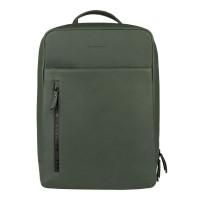 "Burkely Rain Riley Backpack 15.6"" Dark Green"