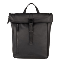 "Burkely Rain Riley Backpack Rolltop 14"" Black"