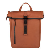 "Burkely Rain Riley Backpack Rolltop 14"" Cognac"