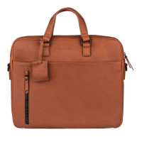 "Burkely Rain Riley Laptopbag 15.6"" Cognac"