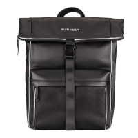 "Burkely Lucent Lane Backpack Rolltop 15.6"" Black"