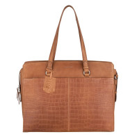 "Burkely Croco Caia Workbag 15.6"" Cognac"