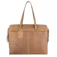 """Burkely Croco Caia Workbag 15.6"""" Taupe"""