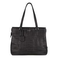 """Burkely Croco Caia Handbag M 13.3"""" Black"""
