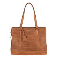 """Burkely Croco Caia Handbag M 13.3"""" Cognac"""