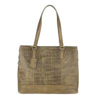 """Burkely Croco Caia Handbag M 13.3"""" Green"""