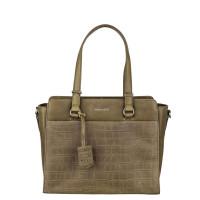 Burkely Croco Caia Handbag S Green