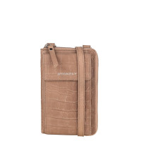 Burkely Croco Caia Phonebag Taupe