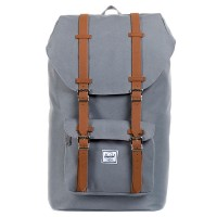 Herschel Little America Rugzak Grey/Tan Synthetic Leather
