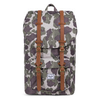 Herschel Little America Rugzak Frog Camo/ Tan Synthetic Leather