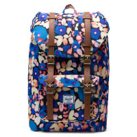 Herschel Little America Mid Volume Rugzak Painted Floral/Tan Synthetic Leather