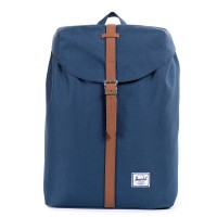 Herschel Post Mid-Volume Rugzak Navy/ Tan Synthetic Leather