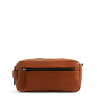 Still Nordic Clean Toiletry Bag 2 Rooms Cognac