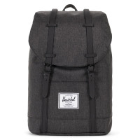 Herschel Retreat Rugzak Black Crosshatch/Black Rubber