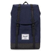 Herschel Retreat Rugzak Peacoat/Black Crosshatch