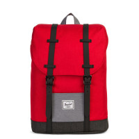 Herschel Retreat Youth Rugzak Barbados Cherry Crosshatch/Mid Grey Crosshatch/ Black Crosshatch