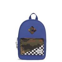 Herschel Heritage Kids Rugzak Deep Ultramarine/Checker/Woodland Camo