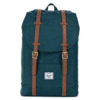 Herschel Retreat Mid-Volume Rugzak Deep Teal/Tan Synthetic Leather