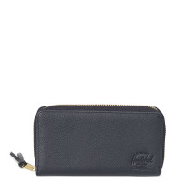Herschel Thomas Portemonnee Black Pebbled Leather
