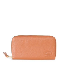 Herschel Thomas Portemonnee Tan Pebbled Leather