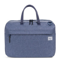 Herschel Sandford Laptop Schoudertas Dark Chambray Crosshatch