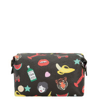 Mi-Pac Wash Bag Gold X Tatty Devine Toilettas Characters Black